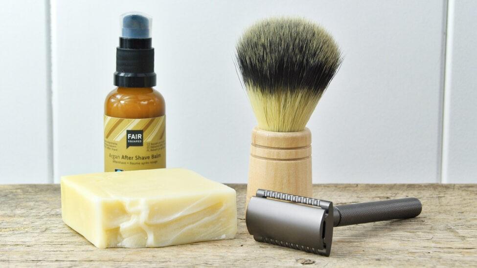 scheerzeep en argan aftershave balm