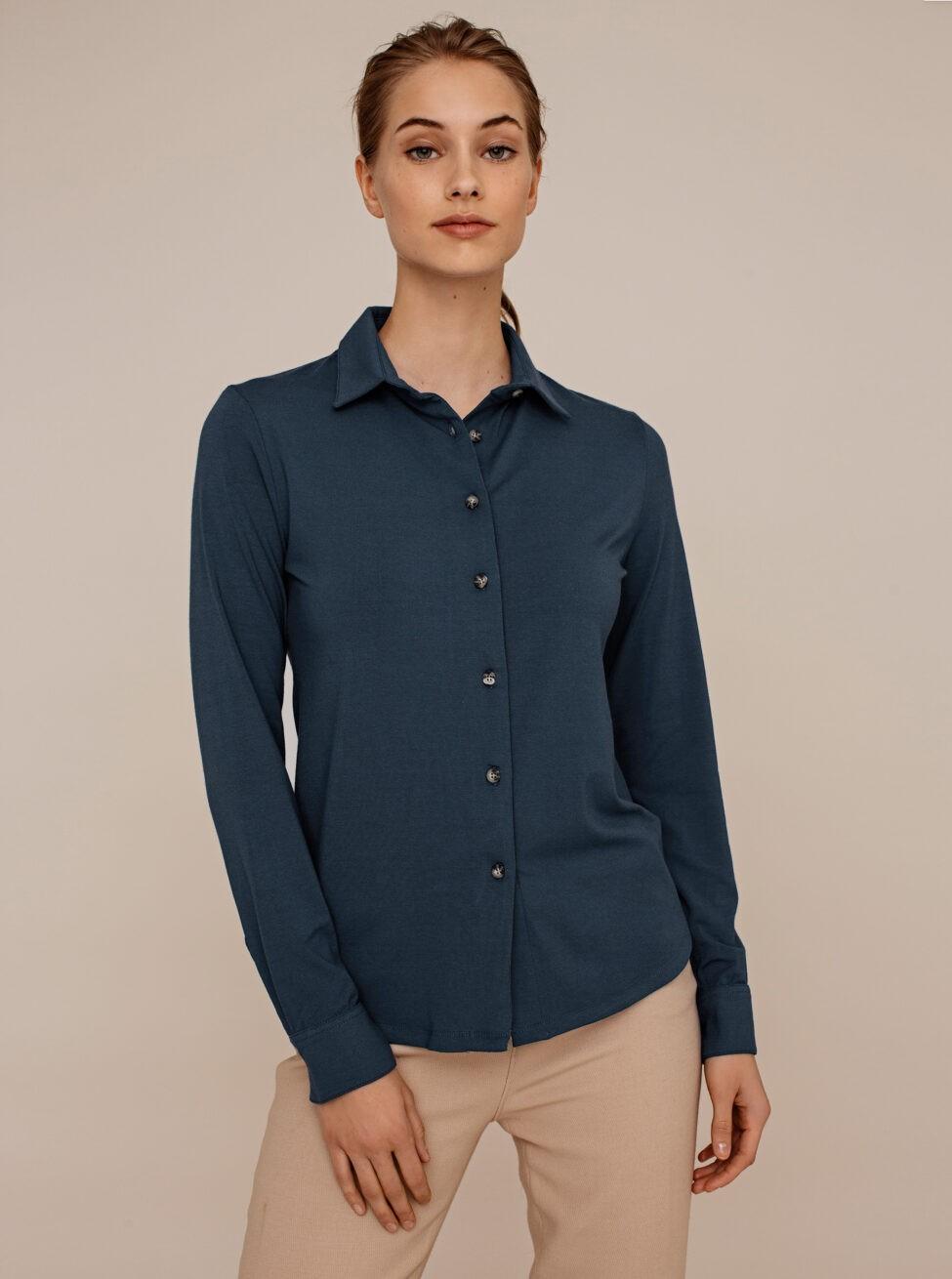 cedar blouse petrol blue