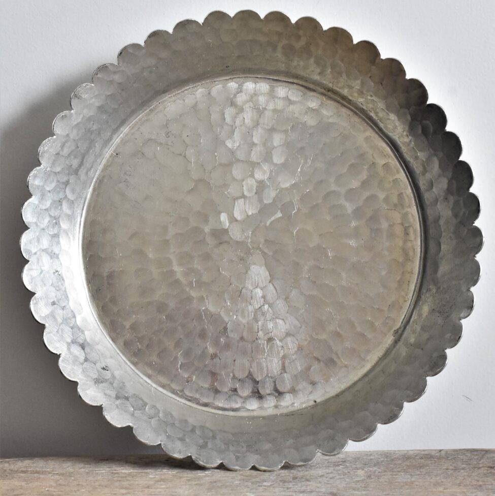 hamamschaal met geschulpte rand
