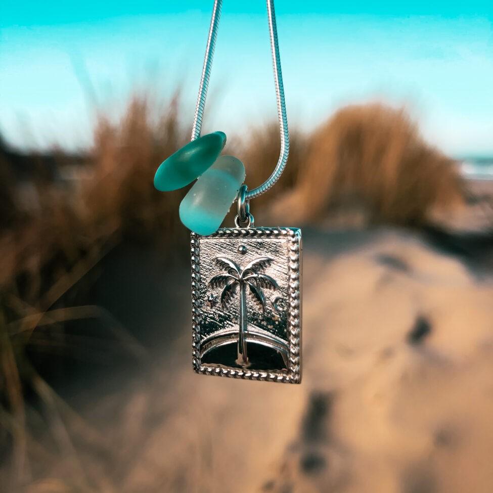 zeeglas my loves ketting zilver strand